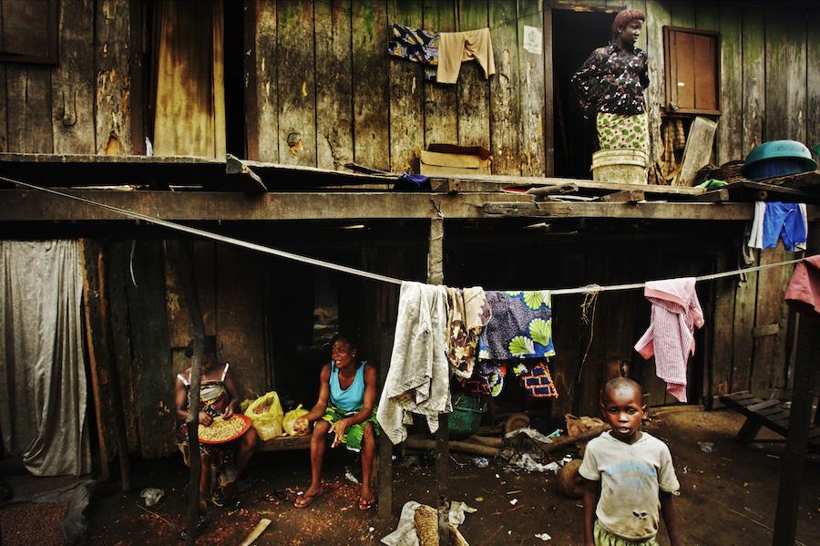 Scorcio di vita nello slum di Makoko