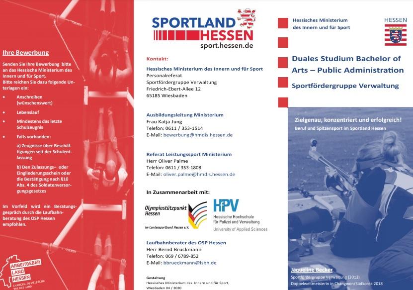 Flyer duales Studium- Public Administration