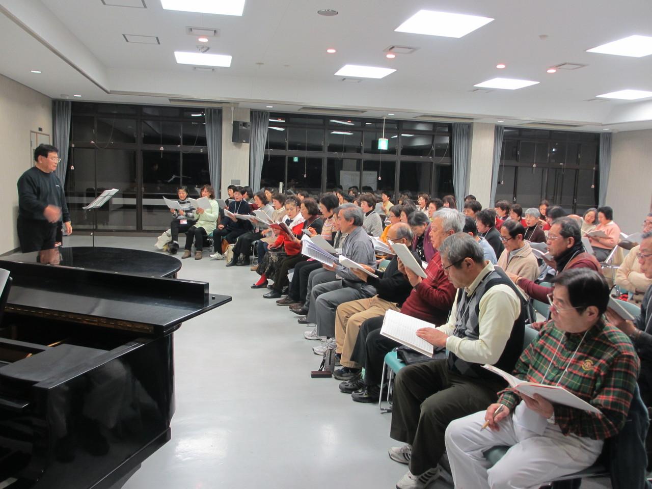 1月合唱練習会 景山先生指導