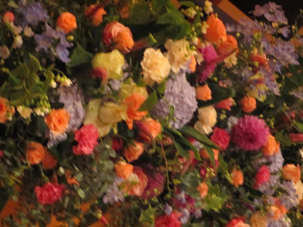 手作りステージ花