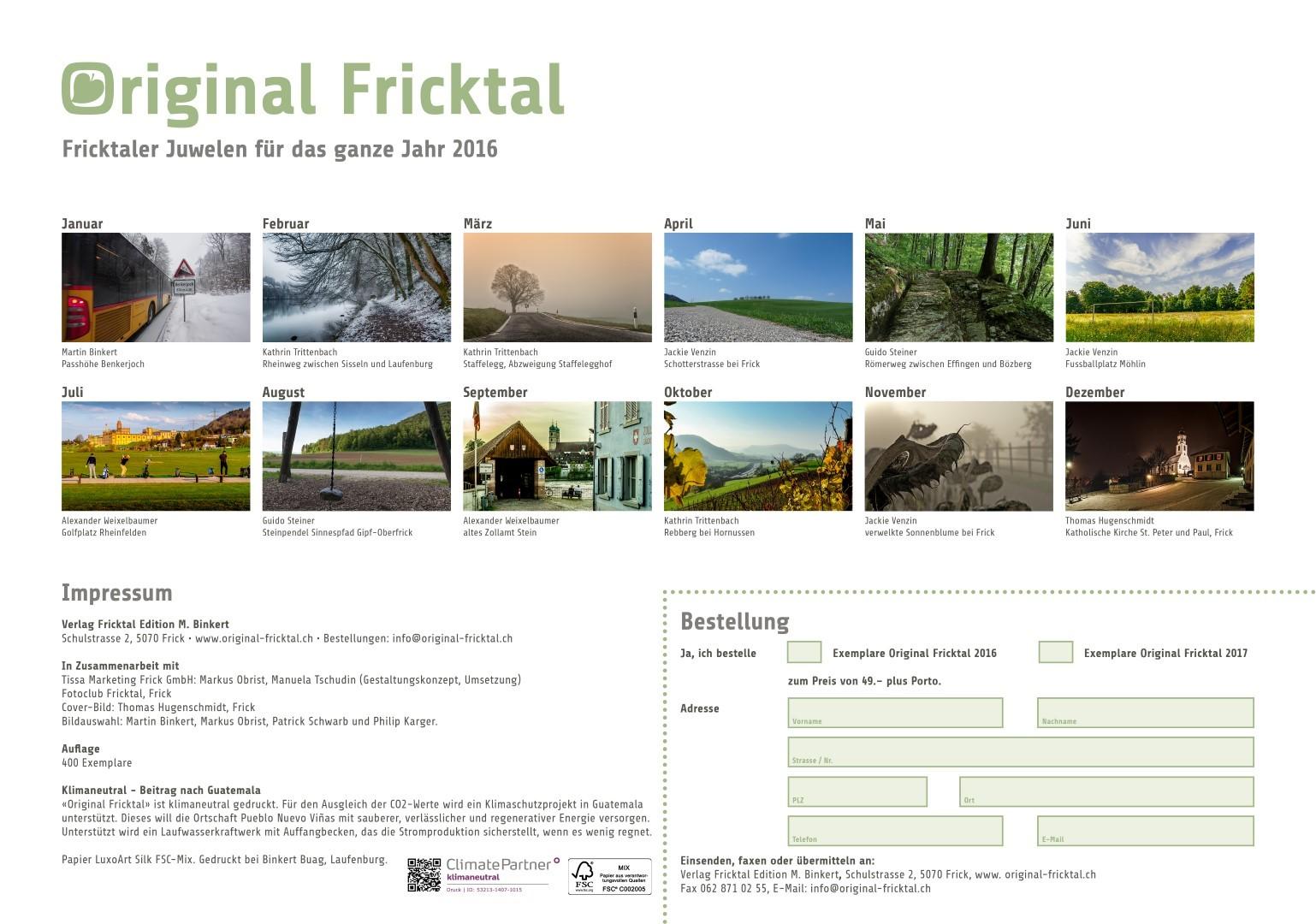 Original Fricktal, Rückblatt