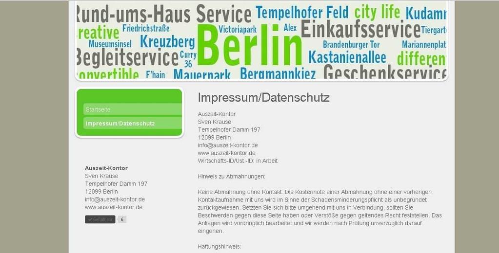 Website nach Baukasten