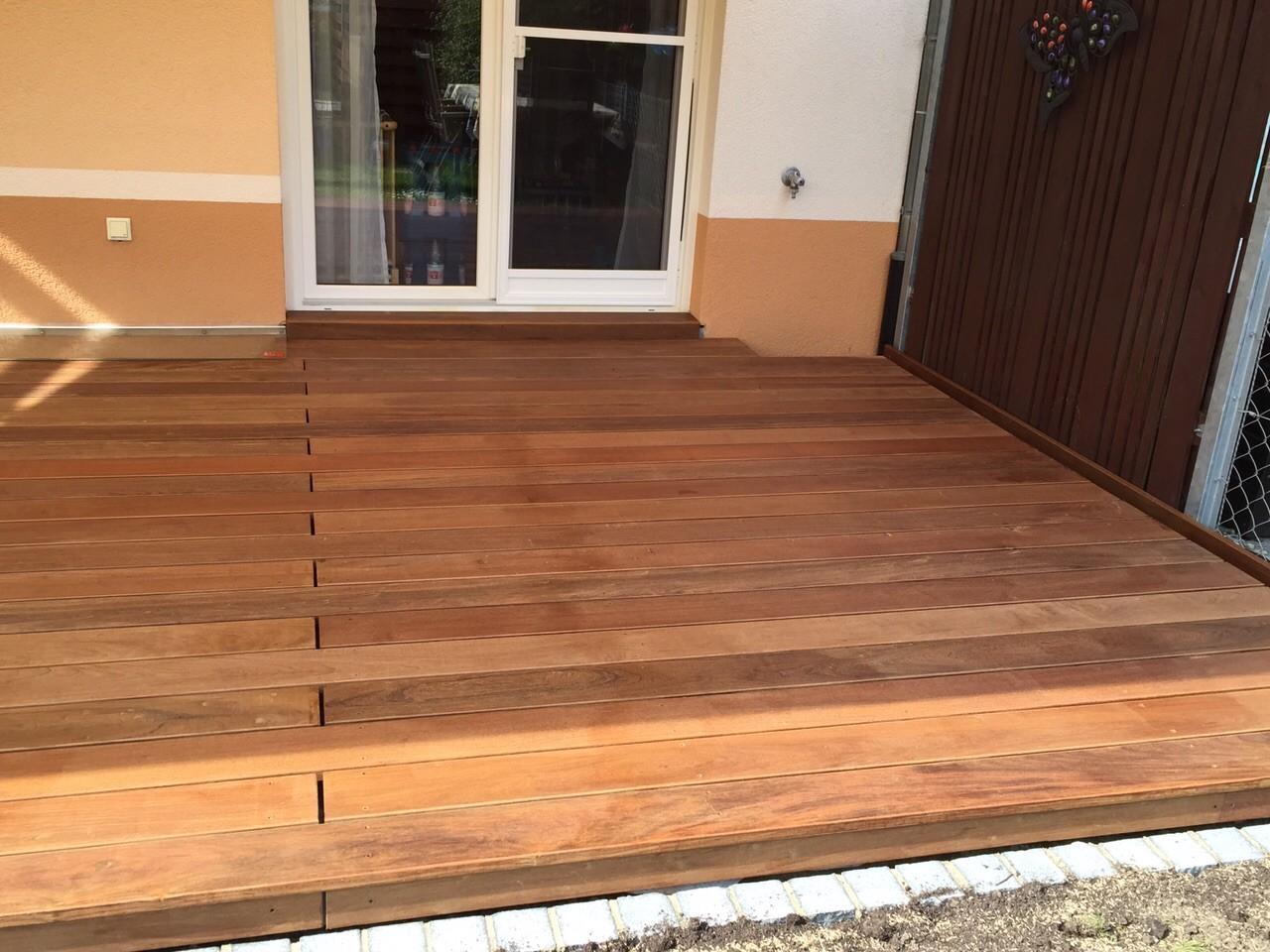 Fertige Holzterrasse IPE geölt