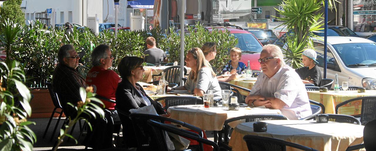Strassencafé Galileo Restaurant Weil am Rhein