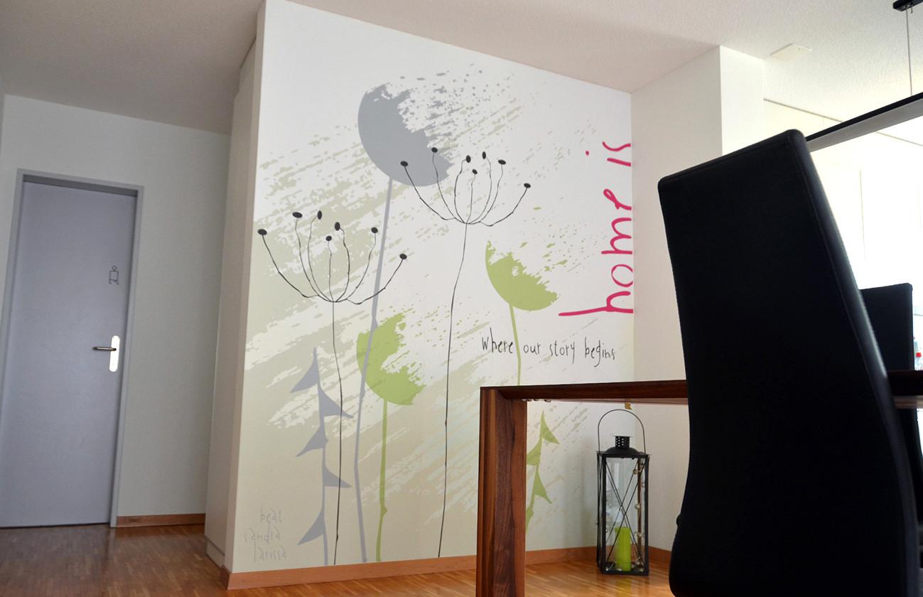 Raumgestaltung und deko mit wandtapeten grafik design for Raumgestaltung app