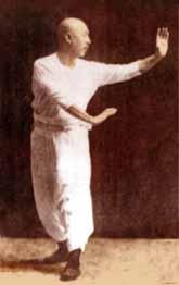 Une posture typique du Bagua