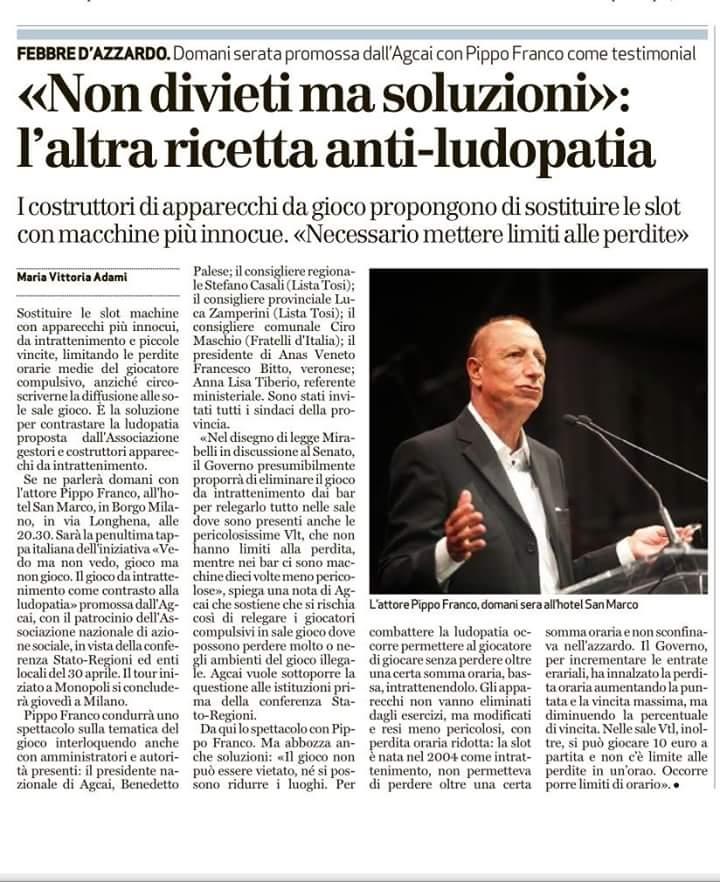 Dalquotidiano L'Arena del 19/4/2016.