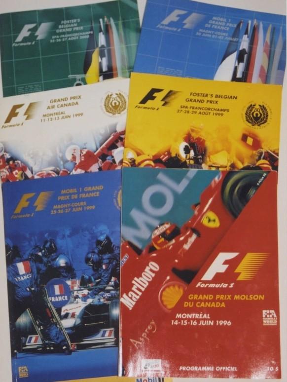 FIA, programmes de Grands Prix de Formule 1