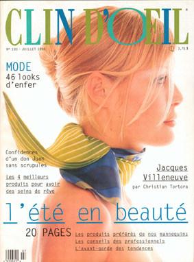 Clin d'Œil, magazine québecois féminin, article sur Jacques Villeneuve