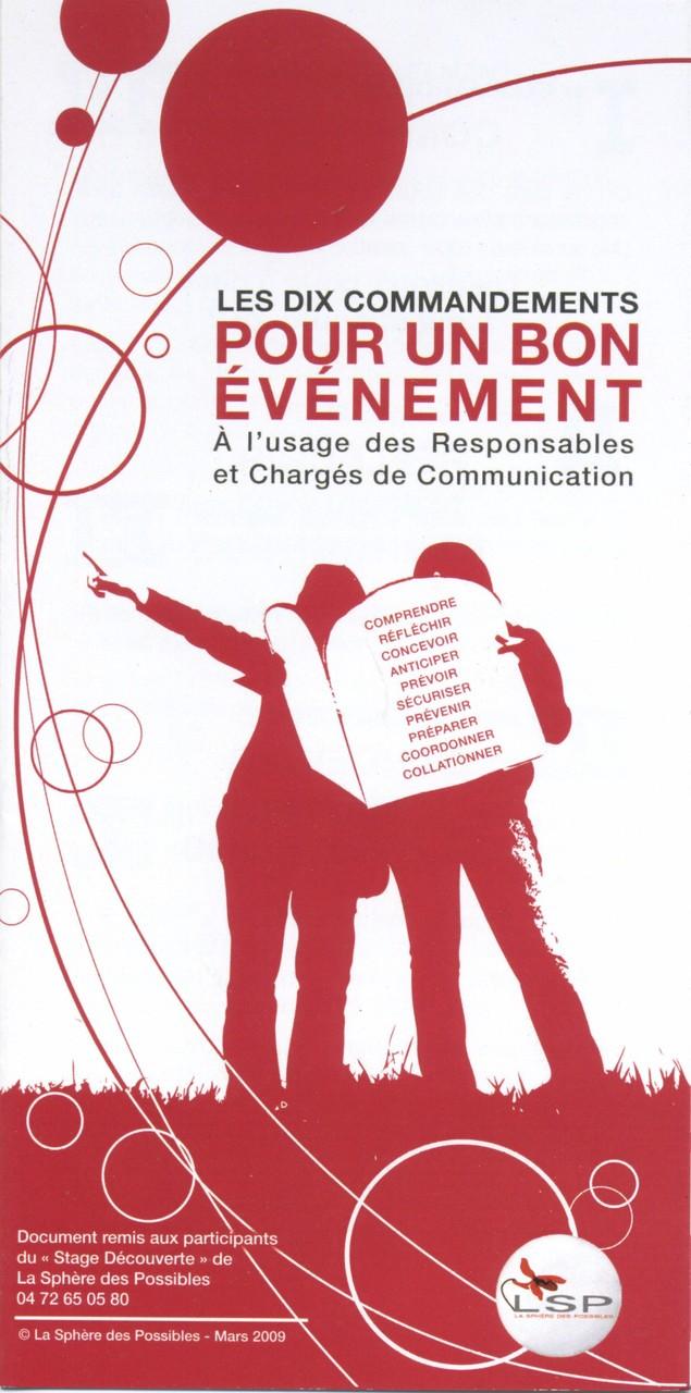 """LSP, flyer sur les """"10 commandements de l'organisation d'événements"""""""