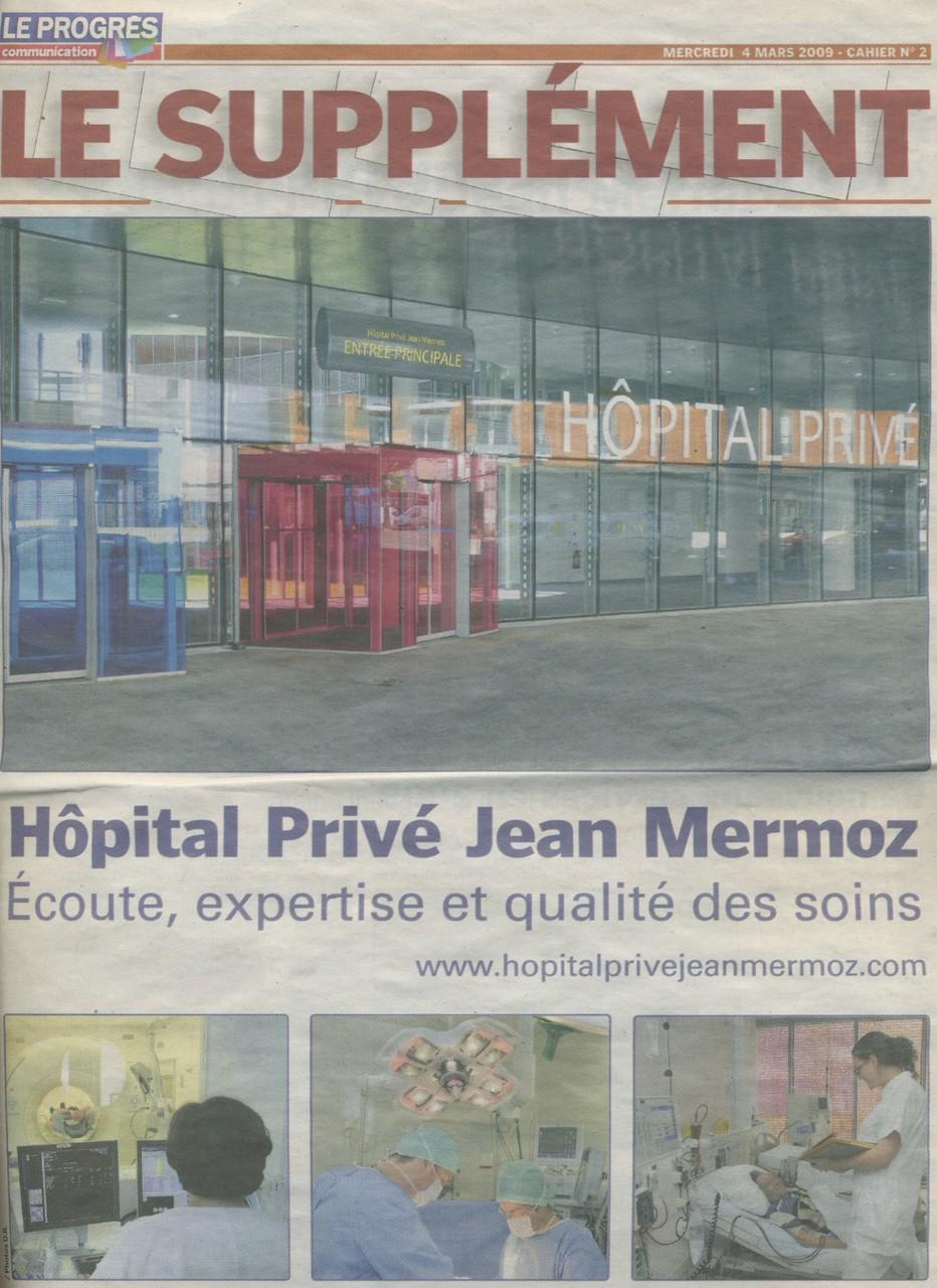 Hôpital Jean Mermoz, Lyon, management du publirédactionnel