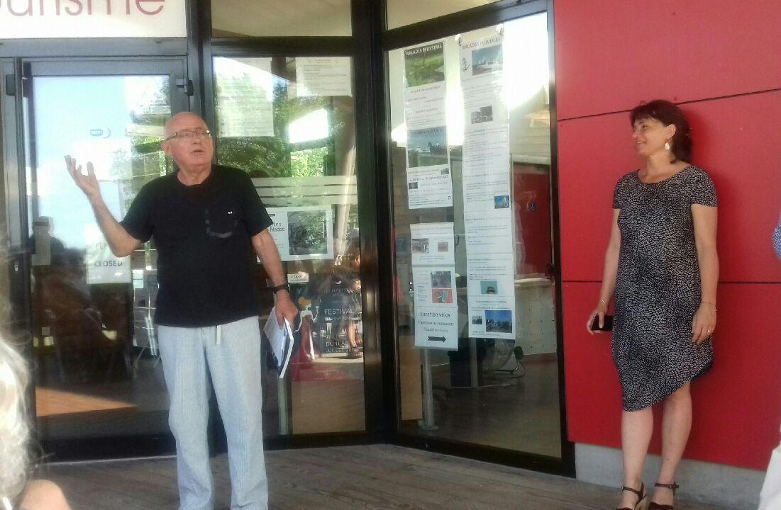 Lamarque, Christian Coulon et Delphine Trentatcosta