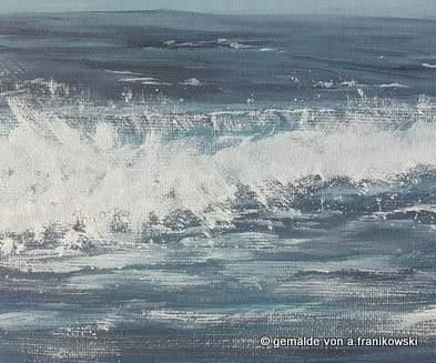 Eine Detailansicht von meinem Meergemälde Nordsee
