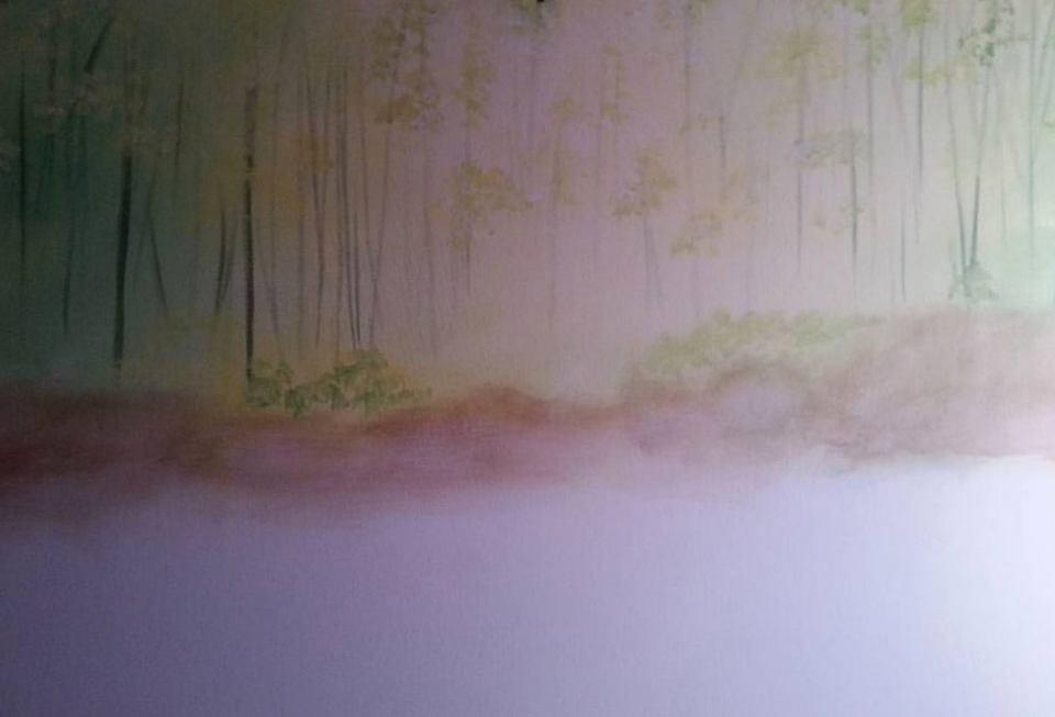 Zuerst habe ich den Hintergrund gemalt
