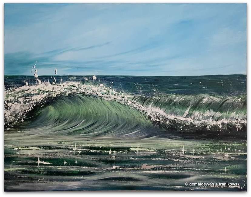 Meerbild Wellenreiten