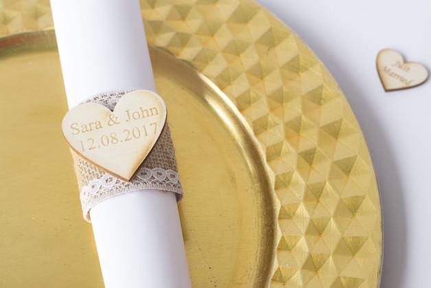 serviettenringe hochzeit servietten set 20 happy wedding art. Black Bedroom Furniture Sets. Home Design Ideas