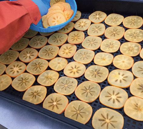 新潟市南区産の特産果物(ルレクチエ、越後姫、りんご、柿)  ノンオイルノンシュガーでカリカリのハードドライチップスにした 新潟スイーツ