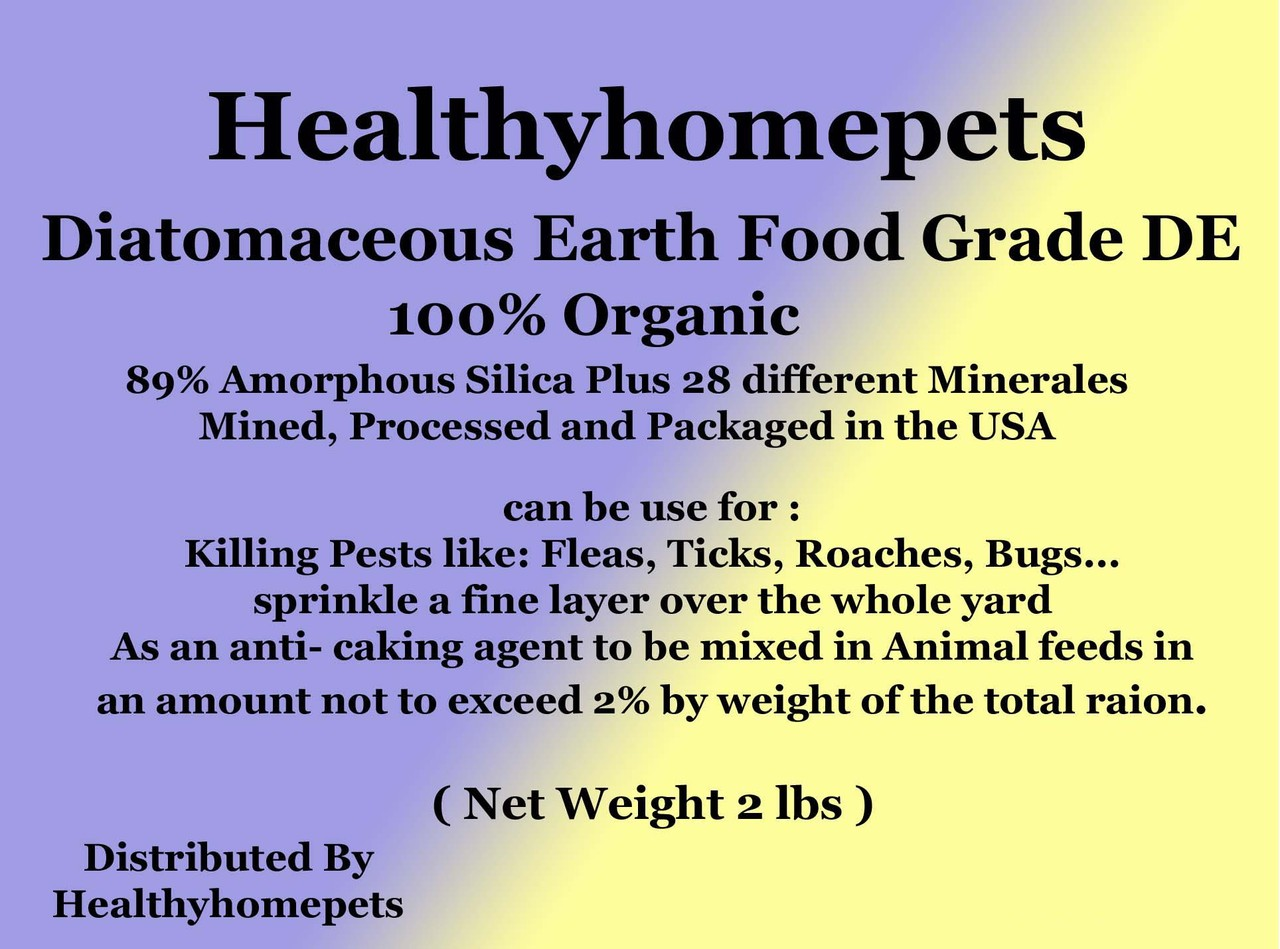 diatomaceous earth food grade 1lb healthyhomepets. Black Bedroom Furniture Sets. Home Design Ideas