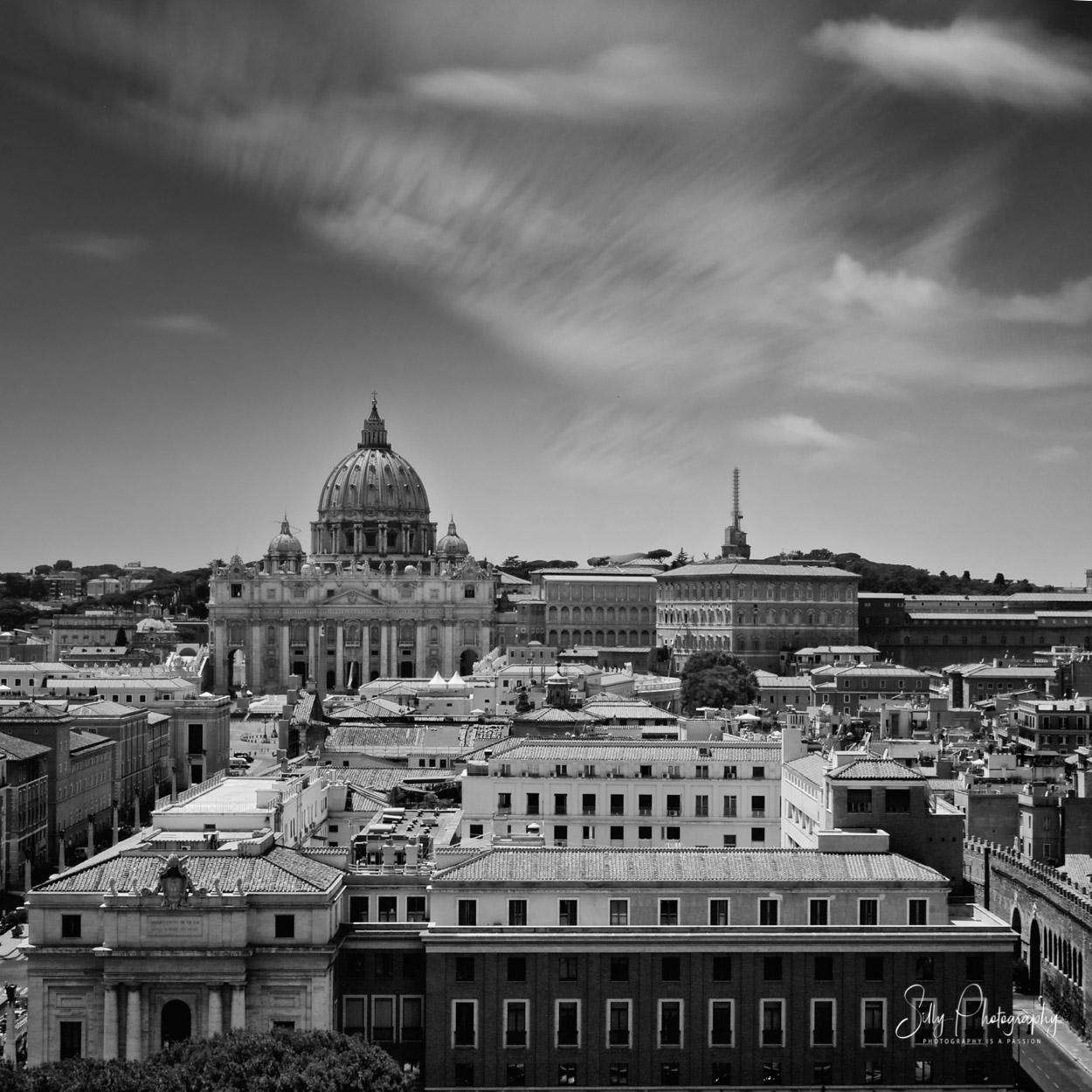 Rom / Petersdom / Vatikanstaat, Blick von der Engelsburg, Langzeitbelichtung, 2014, © Silly Photography