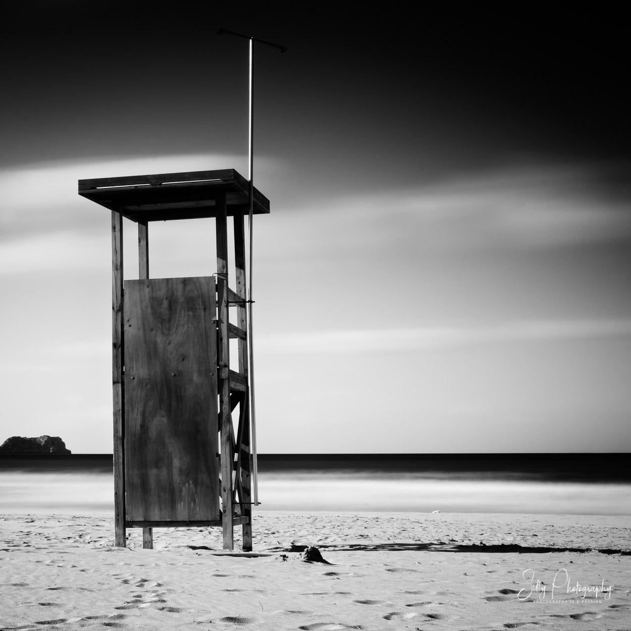Langbelichtung, Mallorca, Peguera, Strand, Wachturm, © Silly Photography