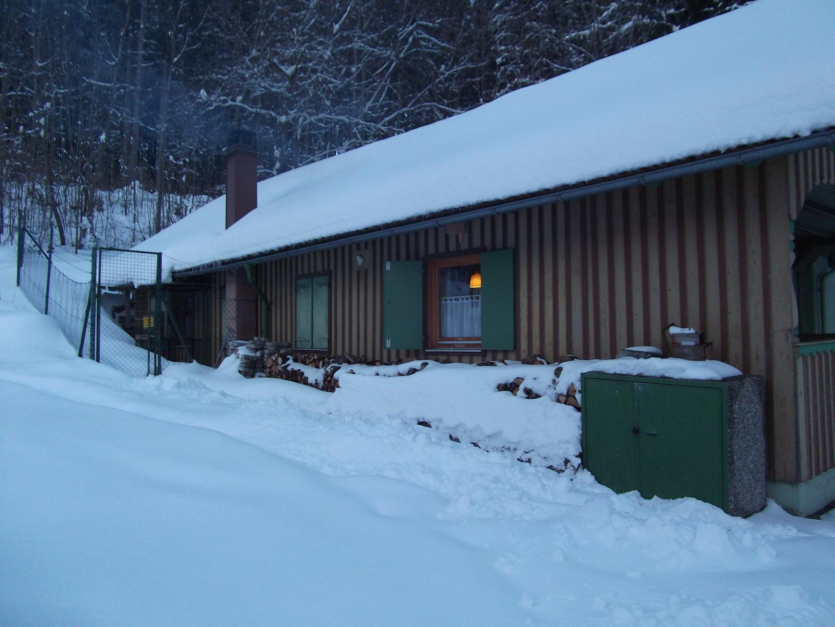 Unser Schützenheim im Winter