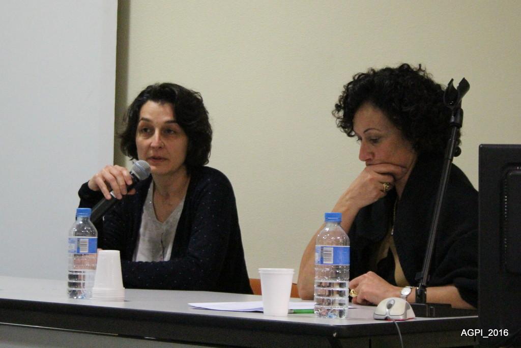 Mmes Kramdi, chef de service au Sessad Trisomie 21 et Mme Moreno, directrice des Arimoc