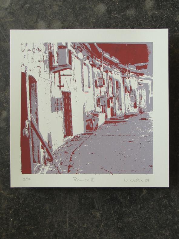 REMISE rot 20x20cm, Auflage 7Stück
