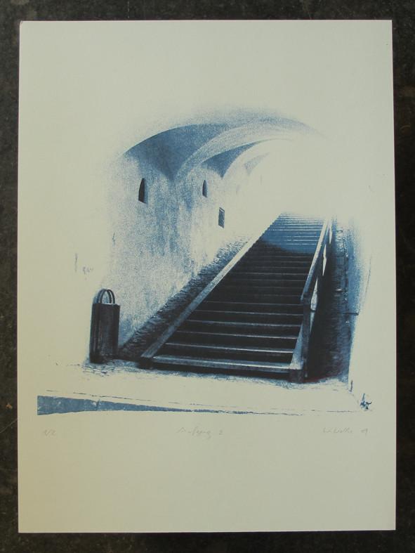 AUFGANG2 45x45cm, Blatt 70x50cm, Auflage 2Stück