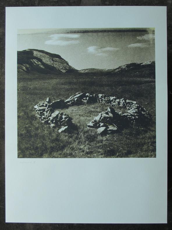 ALMRUND 60x60cm, Blatt 100x70cm, Auflage 7Stück