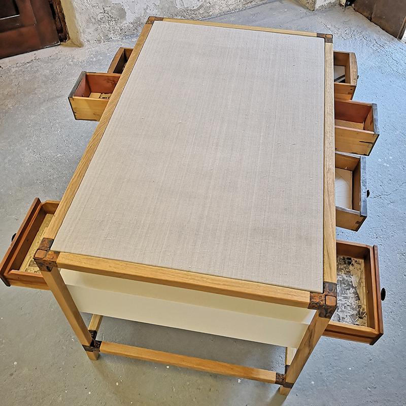 Sideboard doppelschub von oben | Atelier Wolfgang Wallner - Hall in Tirol