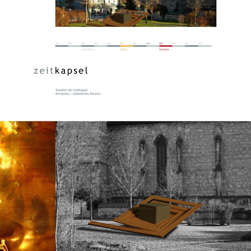 Die Zeitkapsel, Denkmal für die Zukunft. Kunst im öffentlichen Raum