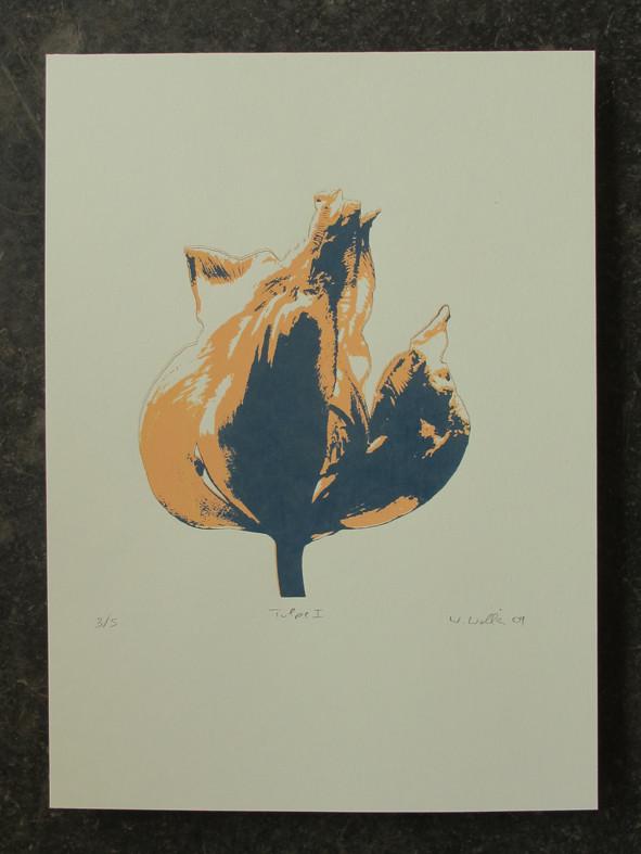 TULPE blau 20x20cm, Auflage 5Stück