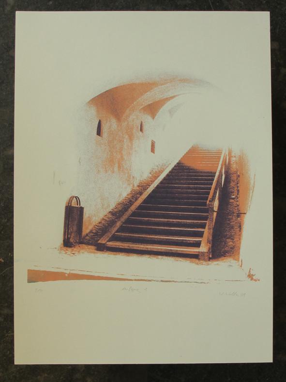 AUFGANG1 45x45cm, Blatt 70x50cm, Auflage 7Stück
