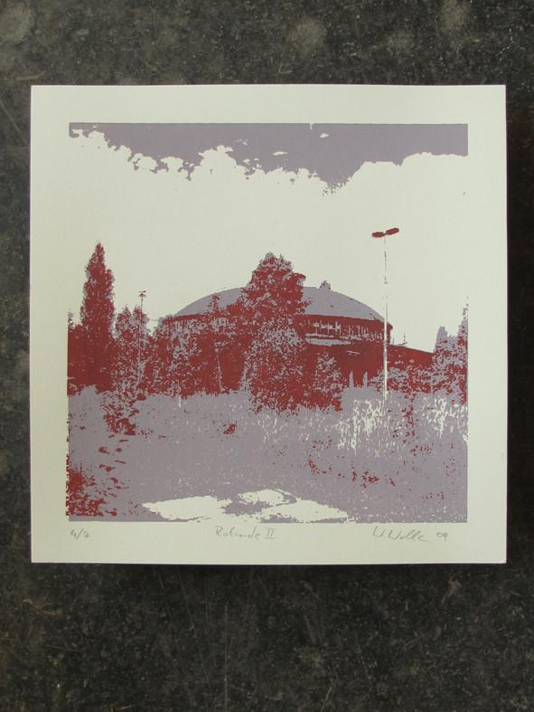ROTUNDE rot 20x20cm, Auflage 7Stück