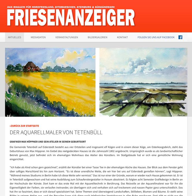 Interview mit dem Aquarellmaler Max Höppner