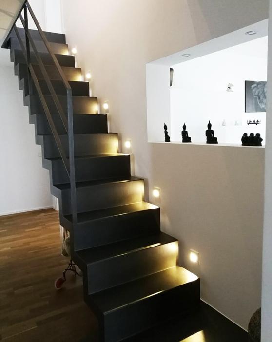 Flurgestaltung Treppenaufgang, Rolf Kullmann Innenarchitekt, Köln
