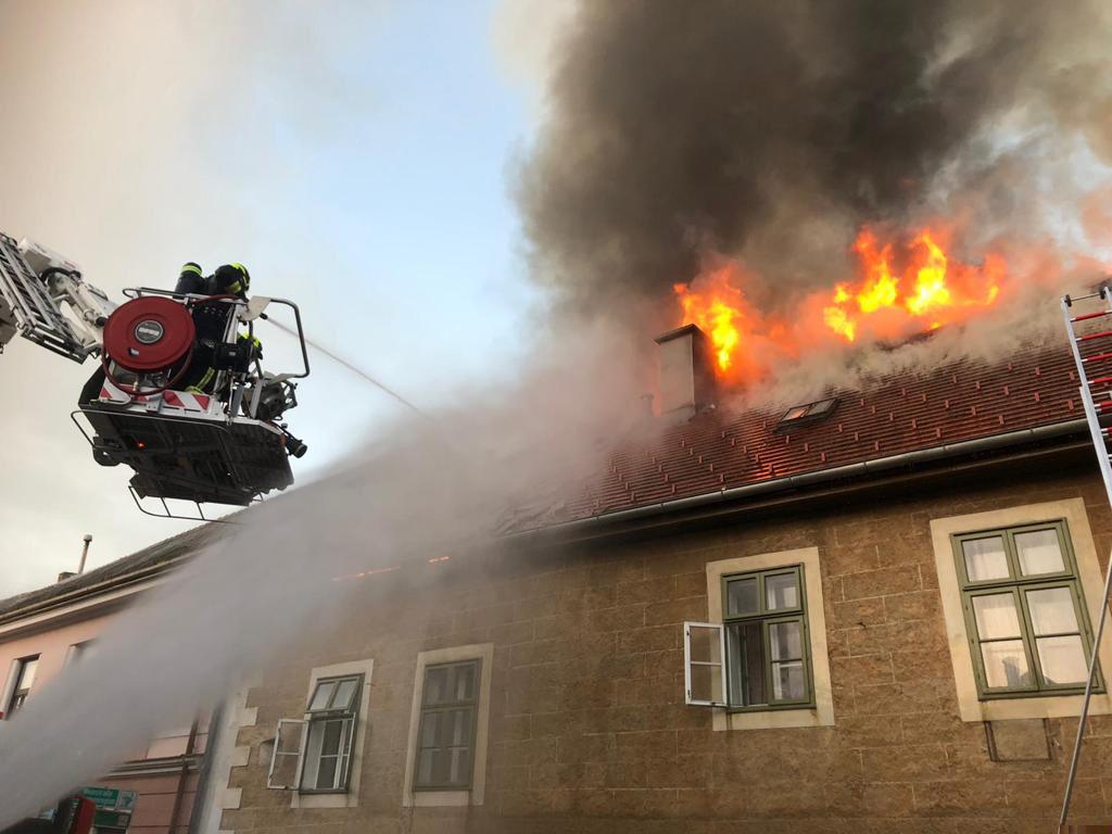 Großbrand in Perchtoldsdorf
