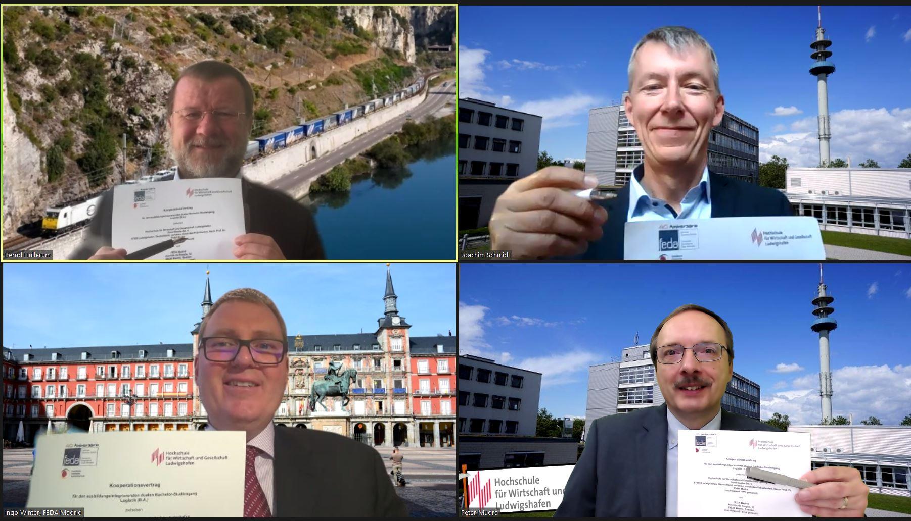 De izq. a dr. y de arriba a abajo: Bernd Hullerum, Prof. Dr. Joachim Schmidt, Ingo Winter y Prof. Dr. Peter Mudra