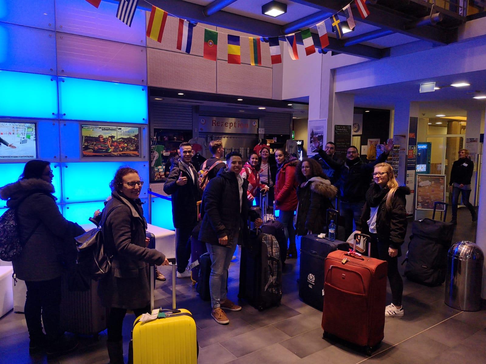Llegada al hostal en Hamburgo