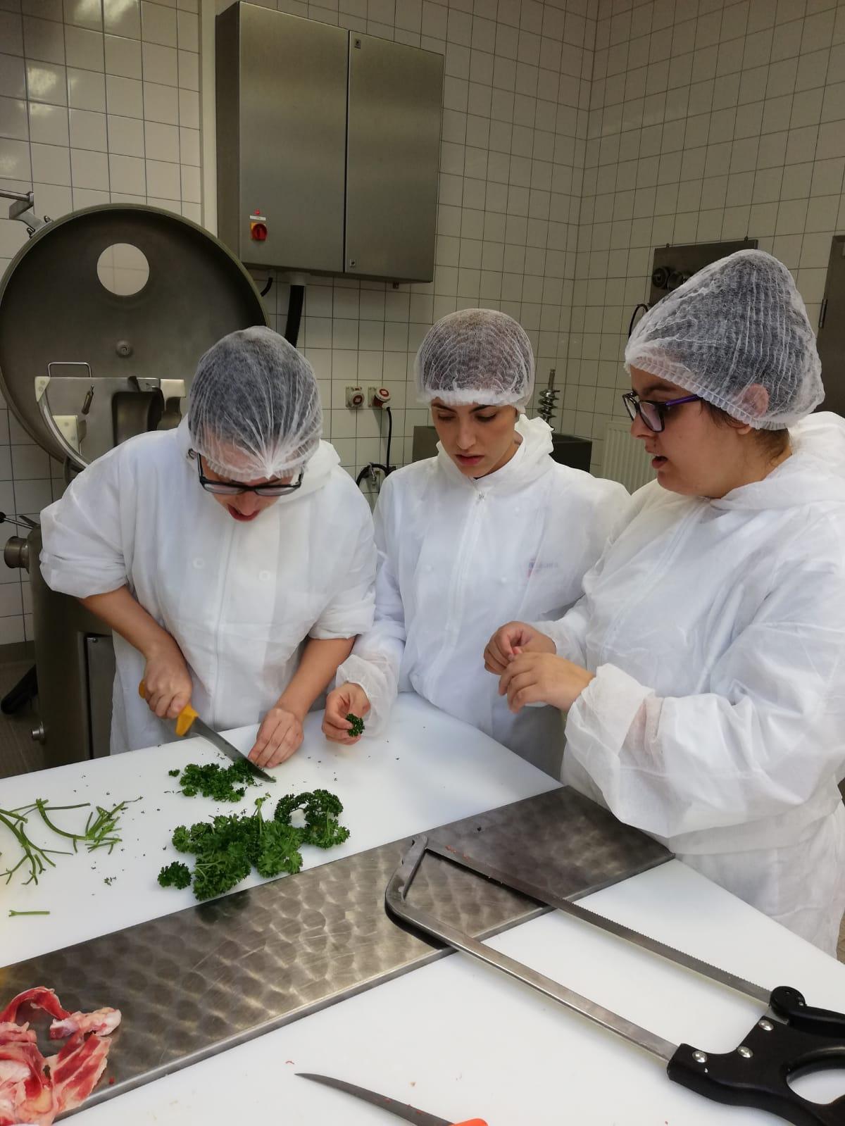 Proyecto con los alumnos de la escuela asociada: Producción de salchicha alemana