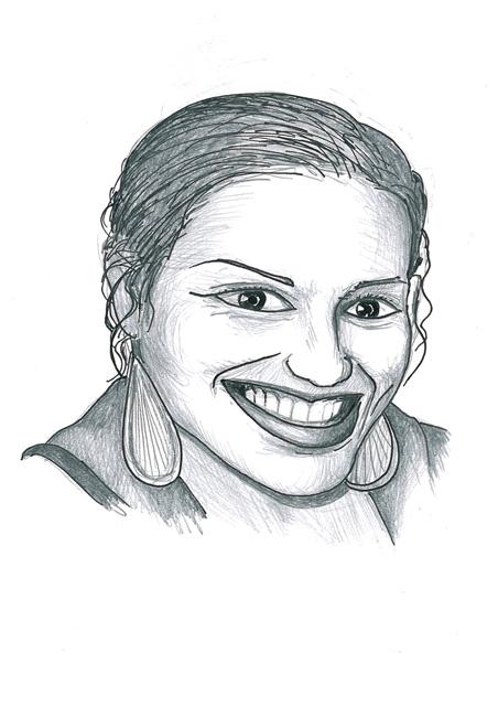 Karikatuur 12 - potlood / zwarte pen op papier 21 x 29.7 cm