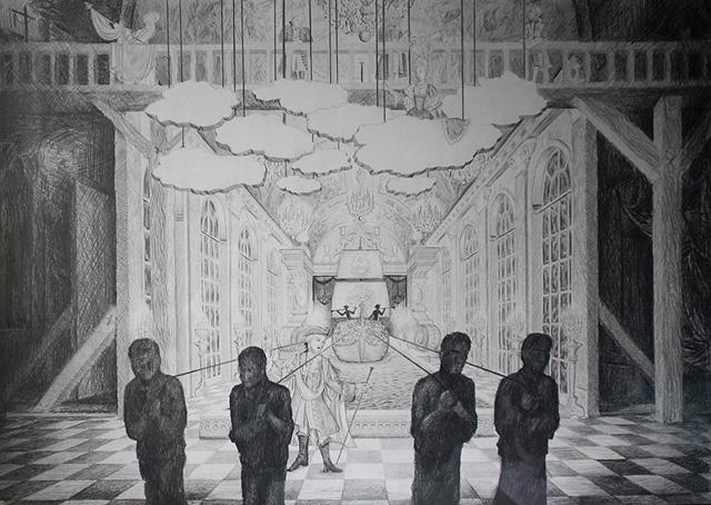 Farinelli - potlood op papier 70 x 100 cm
