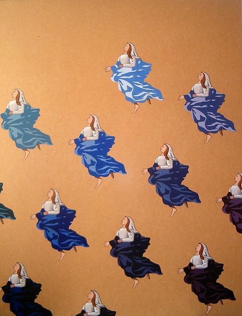 Maria Hemelvaart. Acrylverf op paneel. 61 x 80 cm.