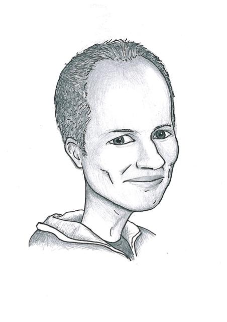 Karikatuur 9 - potlood / zwarte pen op papier 21 x 29.7 cm