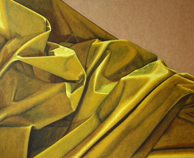 Geel doek. Acrylverf op paneel 61 x 71.5 cm.