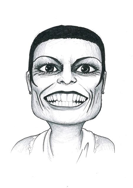 Karikatuur 3 - potlood / zwarte pen op papier 21 x 29.7 cm