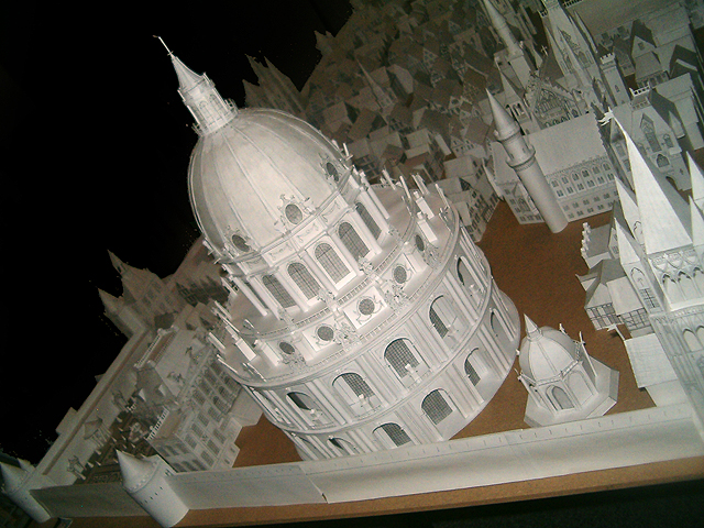 Nieuw Vilsteren - maquettes van papier schaal 1 op 80