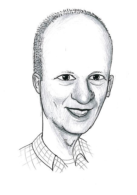 Karikatuur 5 - potlood / zwarte pen op papier 21 x 29.7 cm