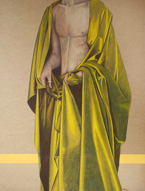Studie 1. Acryl op paneel. 81.5 x 61 cm