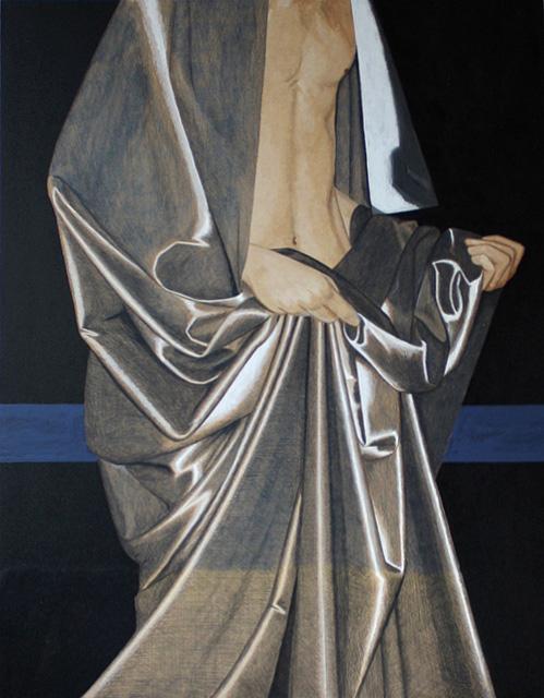 Studie 3. Acryl op paneel. 81.5 x 61 cm